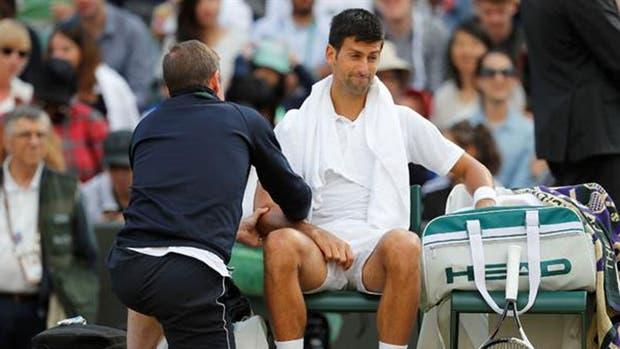 Djokovic y su lesión en Wimbledon