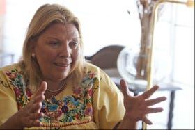 Elisa Carrió consideró que hay sectores que quieren sacar a Cristina del Gobierno