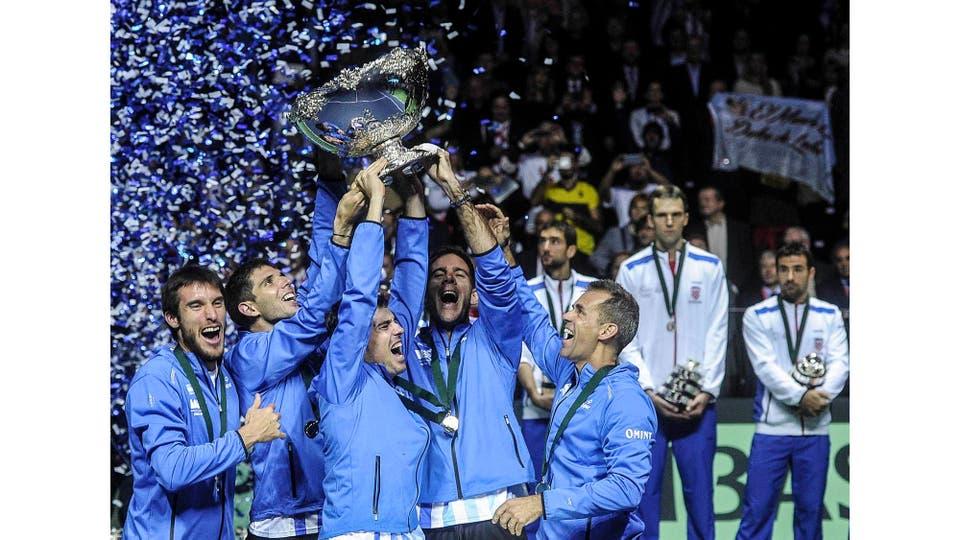 Argentina se consagra campeón de la Copa Davis por primera vez en la historia en Zagreb. Croacia, 27 de noviembre 2016 . Foto: Fernando Gens