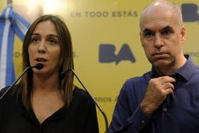 Vidal y Larreta en conferencia tras los incidentes
