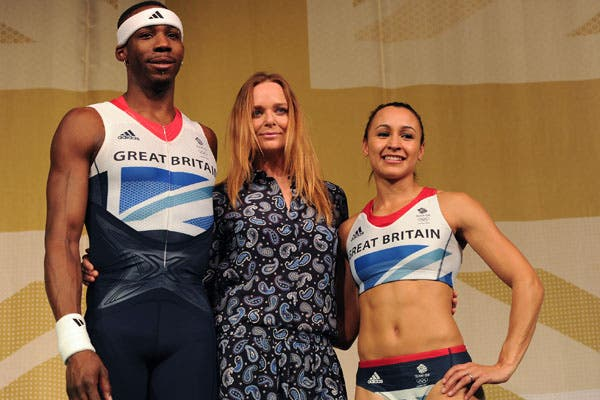 Phillips Idowu, Stella Mc Cartney y  Jessica Ennis. Foto: AP, AFP y Reuters