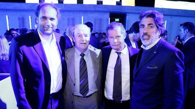 Carlos Guyot, Ignacio González García, Juan Carr y Pancho Meritello. Foto: LA NACION
