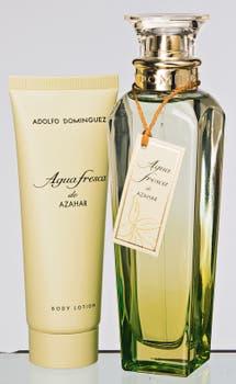 Agua Fresca de Azahar EDT de 120 ml y crema corporal (Adolfo Domínguez). Foto: Silvio Zuccheri