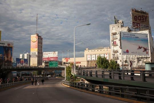 La izquierda cortó el Puente Pueyrredón. Foto: LA NACION / Fernando Massobrio