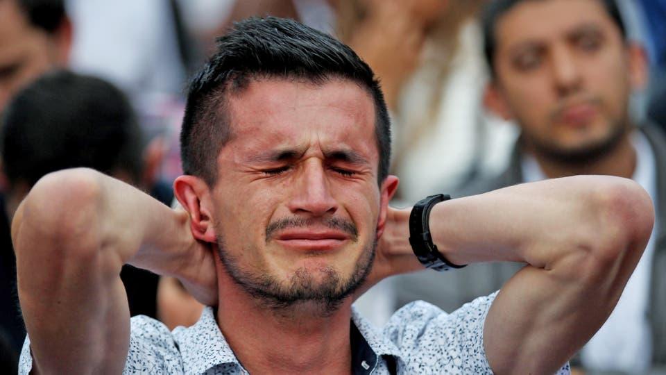 Quienes apoyaban el proceso sintieron gran tristeza al saber el resultado. Foto: EFE / Leonardo Muñoz