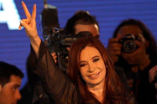 La Presidenta celebró su reelección. Foto: LA NACION / Fernando Massobrio