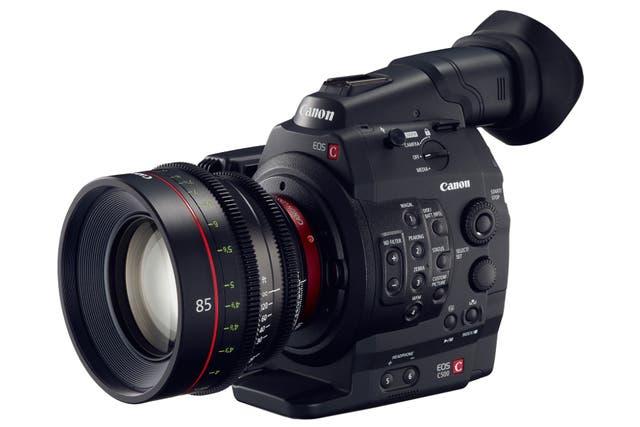 Una Canon EOS C500, capaz de grabar video en calidad 4K