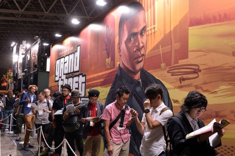 El nuevo juego de Rockstar, Grand Theft Auto V también fue un furor en la Tokyo Game Show. Foto: AFP