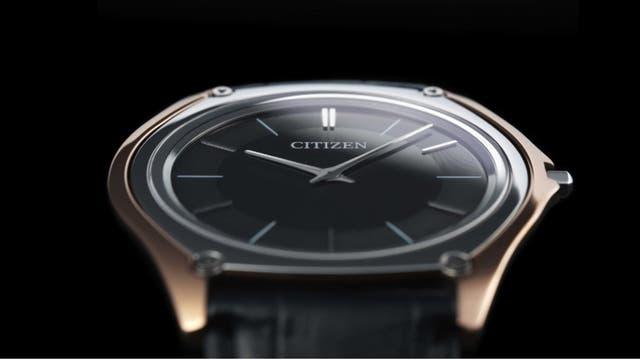 Un Citizen Eco-Drive One, para celebrar el 40 aniversario del reloj solar; tiene una nueva versión de 3 mm de grosor