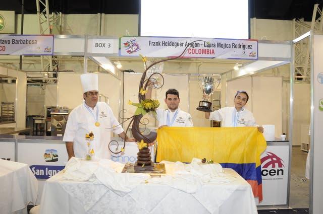 Inspirados por García Márquez, los heladeros colombianos, eligieron como temática el Realismo Mágico y se consagraron ganadores