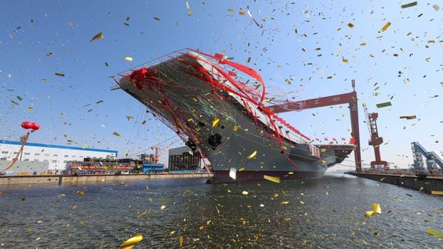 China no se quiere quedar atrás y presentó su nuevo portaaviones. Foto: AP / Li Gang/Xinhua