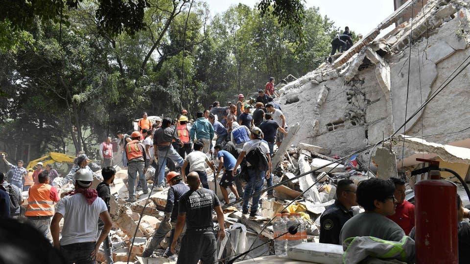 Un terremoto sacudió a la Ciudad de México. Foto: AFP / Omar Torres