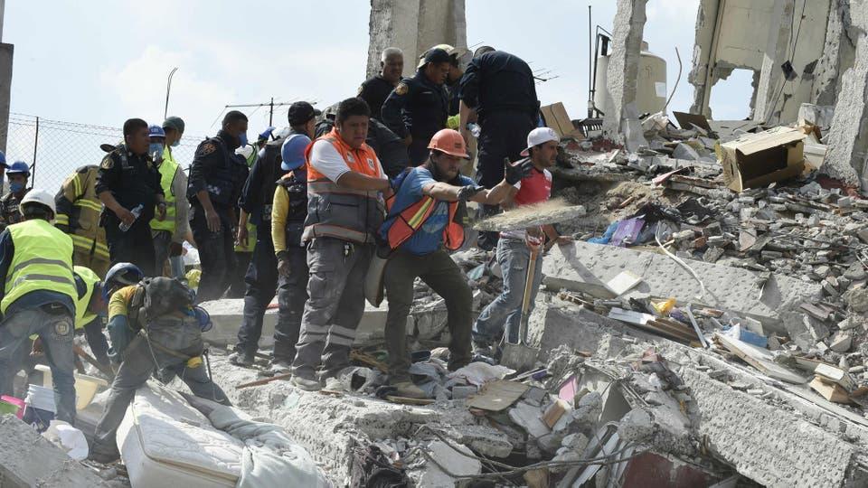 Éste terremoto trajo para muchos el recuerdo del sismo de 1985 en el que murieron 10.000 personas. Foto: AFP