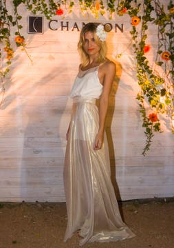 Cinthia Garrido con un vestido de Fabián Zitta. Foto: Alejandro Di Ciocchis
