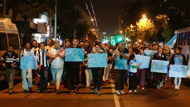 La marcha de pedido de justicia por la muerte de Emanuel Balbo, el hincha de Belgrano asesinado durante el clasico Belgrano-Talleres, en Cordoba