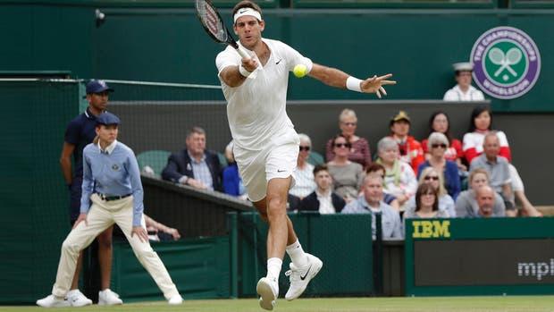 Del Potro, sobre el césped de Wimbledon