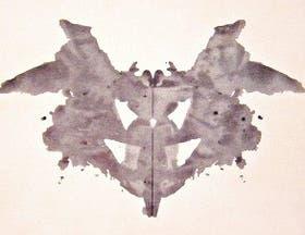 Una de las láminas que integran el test de Rorschach