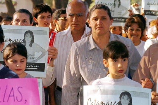 Toda la provincia de Catamarca reclamó el esclarecimiento del crimen en las denominadas marchas del silencio. Foto: Archivo