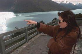 Cristina Kirchner en la pasarela del glaciar Perito Moreno