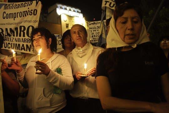 En Tucumán, el PJ y organismos de Derechos Humanos, marchan en memoria del ex presidente Néstor Kirchner,. Foto: Télam