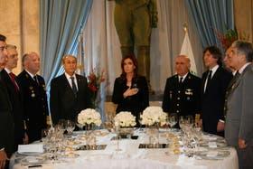 Costantino, Puricelli, Cristina Kirchner, Chevalier y Boudou, en el encuentro de camaradería