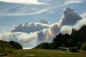 Los incendios en Chubut se habrían originado por un rayo caído en la parte baja del cerro Negro. Foto: Archivo