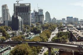 Una vista desde la autopista Buenos Aires-La Plata hacia el Norte, por donde correrá la Ribereña