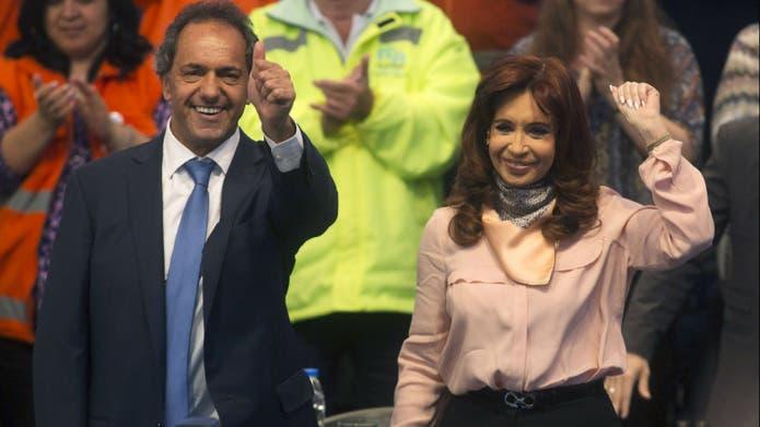 Cristina Kirchner se mostró junto al candidato a presidente del Frente para la Victoria, Daniel Scioli