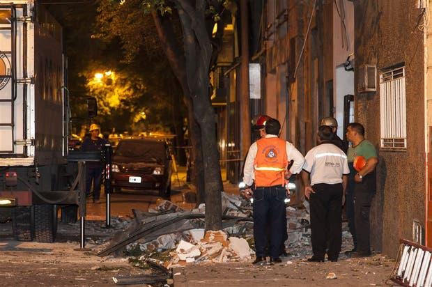 Los escombros en Balcarce al 100 bis, donde ocurrió el incidente