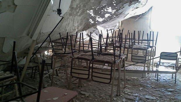 Cayo el techo de un escuela en Belgrano
