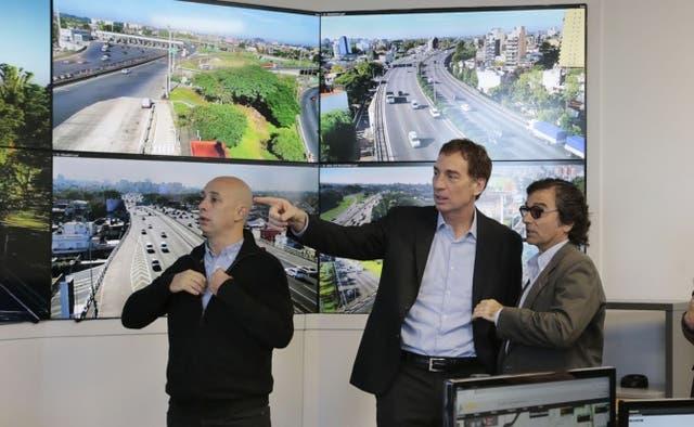 Diego Santilli inauguró el nuevo Centro de Control inteligente de Autopistas Urbanas
