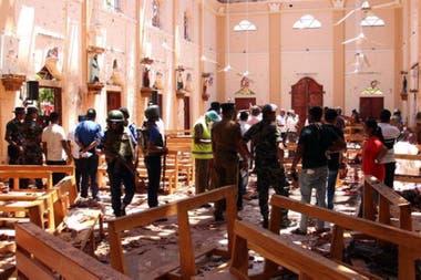 La iglesia de San Sebastián, en la ciudad de Negombo, fue una de las atacadas