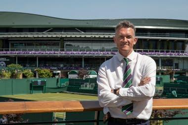 Neil Stubley, el jefe de jardinería de Wimbledon, que se canceló por primera vez desde la Segunda Guerra Mundial.