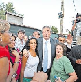 Néstor Kirchner, en Florencio Varela, en su primer acto político del año
