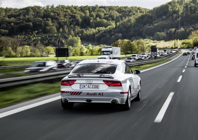 Prototipos. Con este A7, Audi ha realizado pruebas de automatización en autopistas desde Los Ángeles hasta Las Vegas