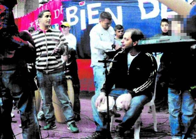 Eduardo Vázquez, condenado a 18 años de prisión por homicidio, en un acto K en San Telmo