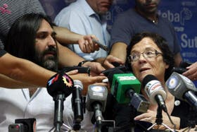 Roberto Baradel (Suteba) y Stella Maldonado (Ctera), representantes gremiales bonaerenses