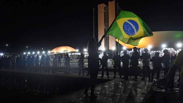Los brasileños salieron a la calle a protestar por la designación de Lula da Silva como jefe de Gabinete. Foto: AFP