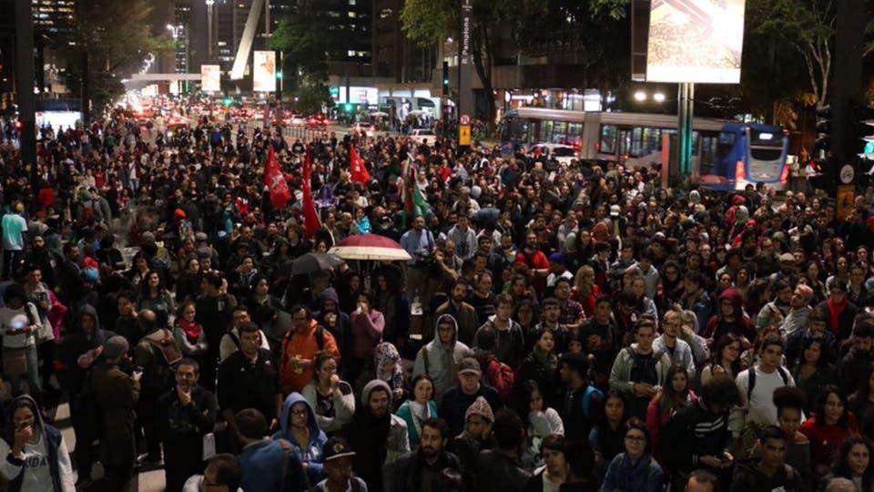 Multitudinarias protestas en distintos puntos de Brasil exigiendo la renuncia del presidente Michel Temer. Foto: Twitter