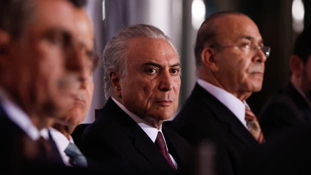 Temer, durante un encuentro con gobernadores en Brasilia