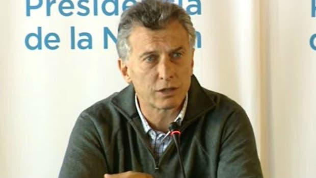 Mauricio Macri durante la conferencia de prensa