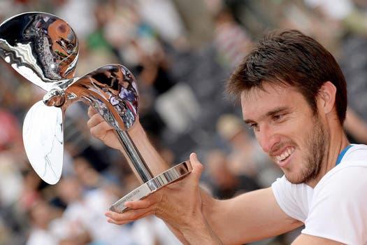 Leo Mayer le ganó a David Ferrer y se quedó con el título de Hamburgo. Foto: EFE