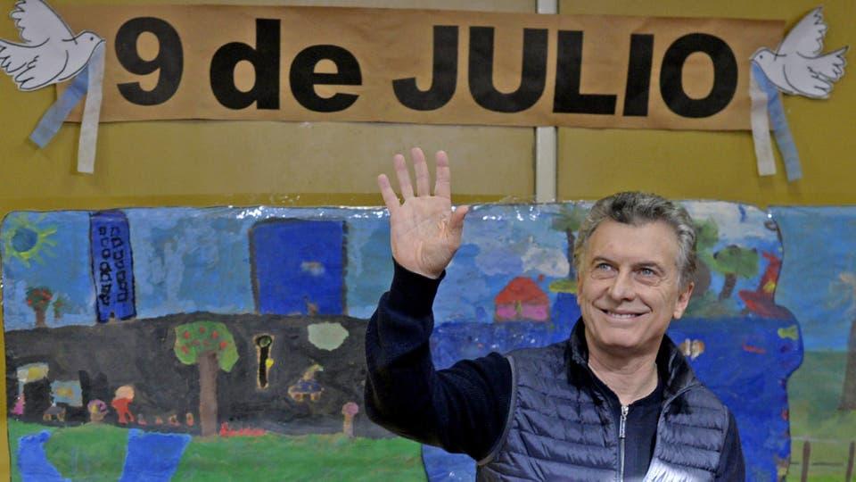 """Mauricio Macri votó en Palermo: """"Está saliendo todo perfecto"""""""