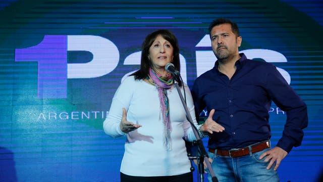 Mirta Tundis y Roberto Mionis en el bunker de 1Pais