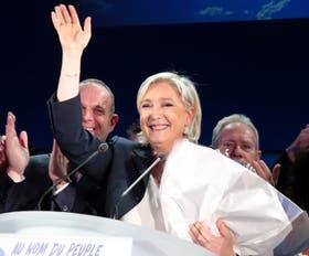 Le Pen intentó transmitir una imagen ganadora ayer