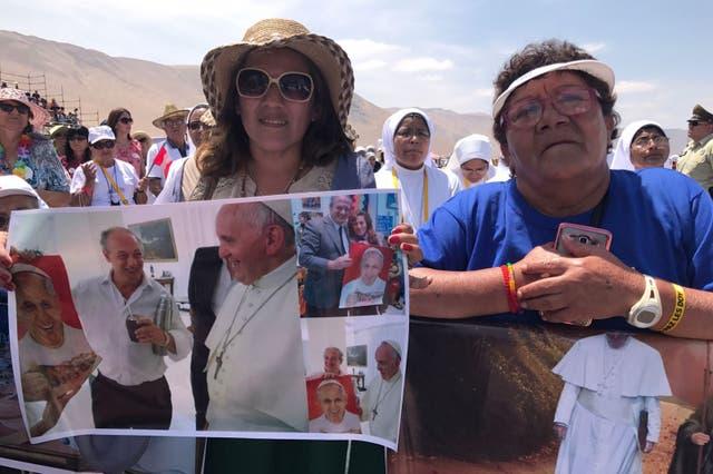 Muchos argentinos viajaron a Chile para ver a Francisco