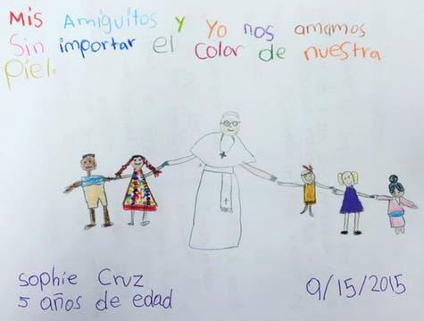 La carta que Sophie le entregó al Papa