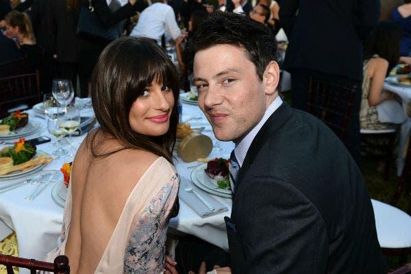 Cory Monteith junto a su pareja Lea Michele, a quien conoció filmando Glee