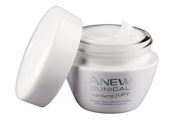 Anew Clinical Infinite Lift. Crema facial efecto lifting para rostro y cuello. $450, Avon.