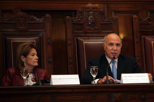 El máximo tribunal recibió a diez representantes, cinco por el Estado y cinco por el Grupo Clarín, en una audiencia pública. Foto: LA NACION / Ezequiel Muñoz